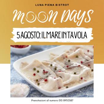5 agosto ✦ Moon Days – Il mare in tavola